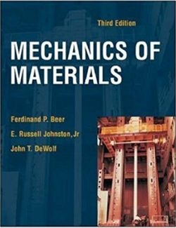 Mechanics Of Materials (In Si Units) – Beer & Johnston – 3rd Edition
