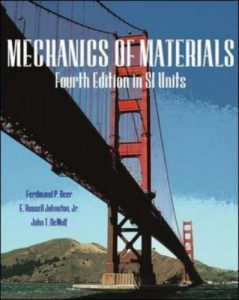 Mechanics Of Materials (In Si Units) – Beer & Johnston – 4th Edition