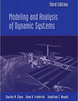 Modeling and Analysis of Dynamic Systems – C. Close, D. Frederick, J. Newell – 3rd Edition