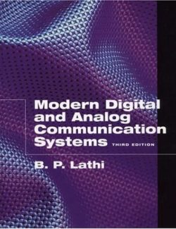 Modern Digital And Analog Communications Systems – B. P. Lathi – 3rd Edition