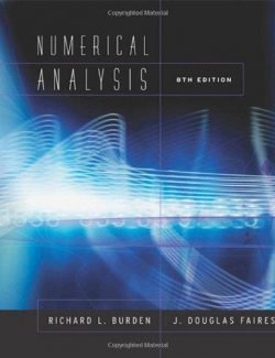 Numerical Analysis – Richard L. Burden, J. Douglas Faires – 8th Edition