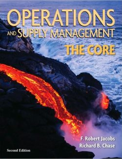 Operations and Supply Management: The Core – R. Jacobs, R. Chase – 2nd Edition