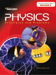 Physics: Principles and Problems – Glencoe Science – 1st Edition