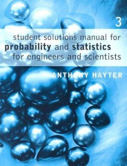 Probability and Statistics for Engineers and Scientists – Anthony Haytr – 3rd Edition