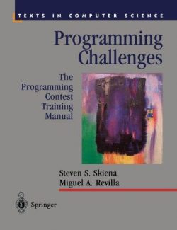 Programming Challenges – Steven S. Skiena, Miguel A. Revilla – 1st Edition