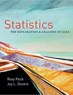 Statistics: The Exploration and Analysis of Data – Roxy Peck, Jay Devore – 7th Edition