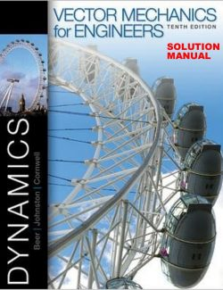 Vector Mechanics for Engineers: Dynamics – Beer & Johnston – 10th Edition