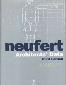 Architects' Data – Ernst and Peter Neufert –  3rd Edition