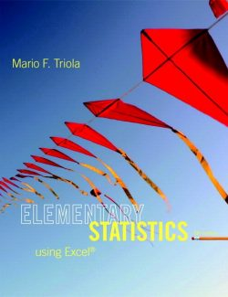 Elementary Statistics Using Excel – Mario F. Triola – 5th Edition