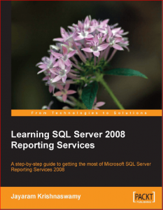 Learning SQL Server 2008 Reporting Services – Jayaram Krishnaswamy – 1st Edition