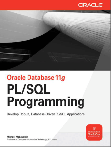 Oracle Database 11g PLSQL Programming – Michael McLaughlin – 1st Edition
