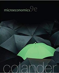 Microeconomics – David Colander – 9th Edition