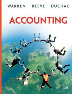 Accounting – Carl S. Warren, James M. Reeve, Jonathan Duchac – 22th Edition