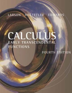Calculus Early Transcendental Functions - Ron Larson