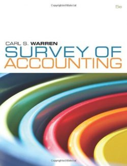 Survey of Accounting – Carl S. Warren – 5th Edition